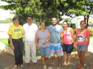 Dorothy, Edivan, Eder, his wife Debra and Raquel on a recent visit