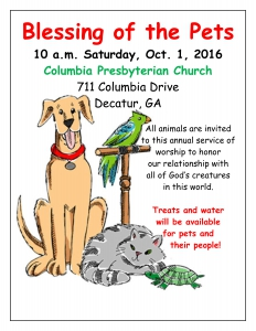 Blessing of the Pets FLYER